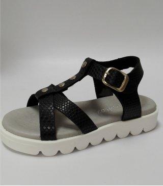 Sandalia Casual de color negro y hebilla