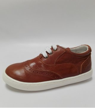 Zapato Casual en piel con cordones