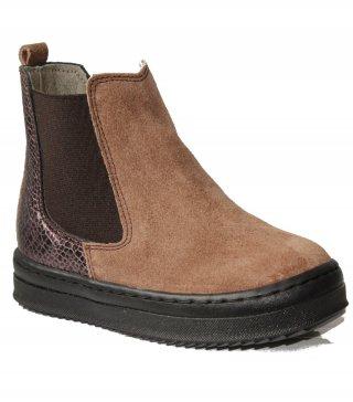 Zapato Chelsea de serraje y elástico negro Kmins