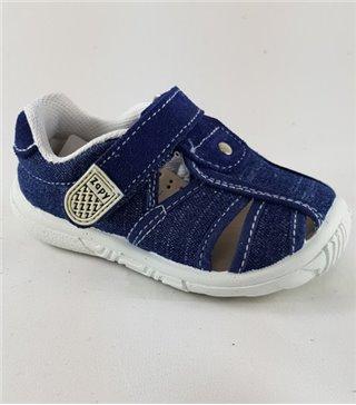 Sandalia de lona para niños con velcro
