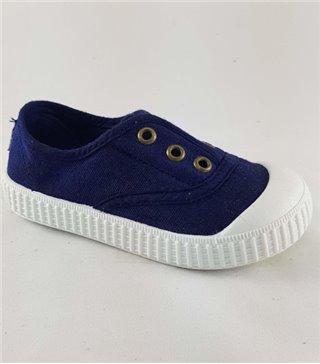 Zapatillas para niños de lona marino sin cordones