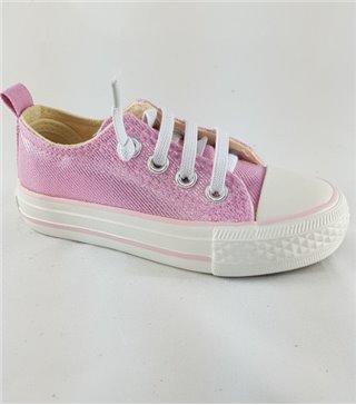 Zapatilla de lona con cordones pink