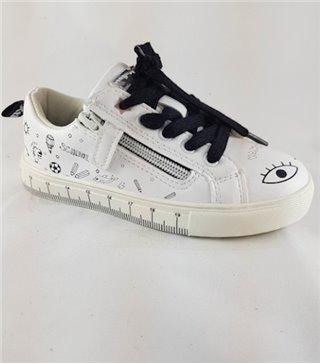 Deportivo niñas color blanco con cordones 57053