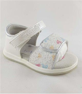 Sandalia para niñas modelo 1701 blanco