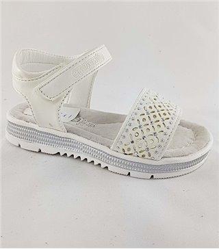 Sandalia para niñas modelo 1725P blanco