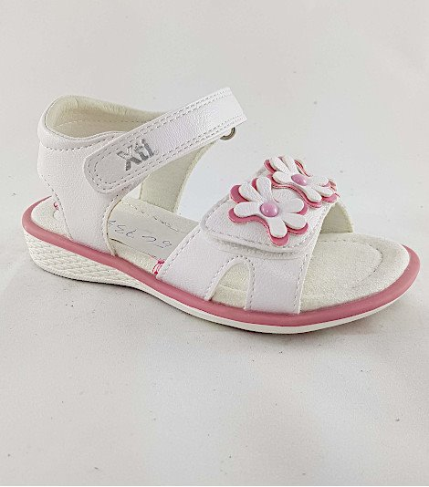 Sandalia para niñas modelo 56738 blanco