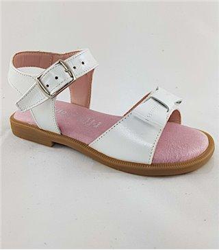 Sandalia para niñas modelo F100bonita blanco