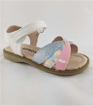 Sandalia para niñas modelo 499520 white pink