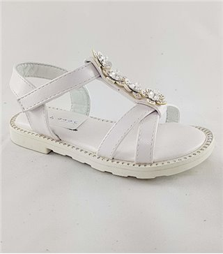 Sandalia para niñas modelo 56664 blanco