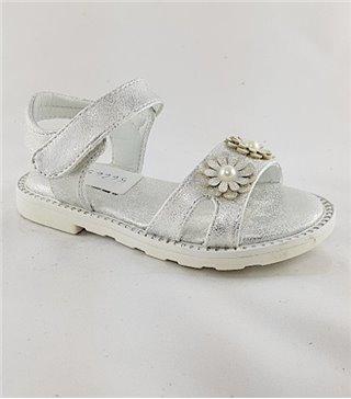 Sandalia para niñas modelo 56665 plata