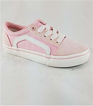 Zapatillas lonas para niñas AKO22907pink con cordones