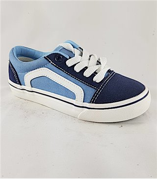 Zapatillas lona AK0229-03-LightBlue cordones
