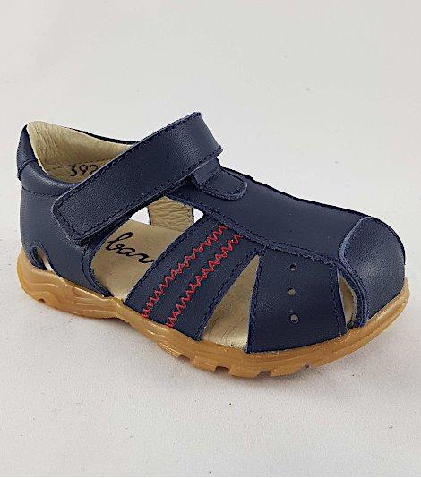 Sandalia para niños modelo 3928 marino-rojo