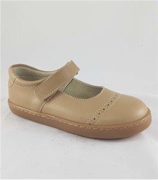 Zapato de piel niña-1163-beig