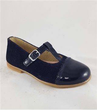 Zapato de piel niña-4486-marino