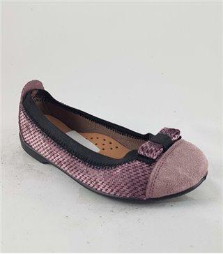 Zapato de piel niña-V-60550-vino