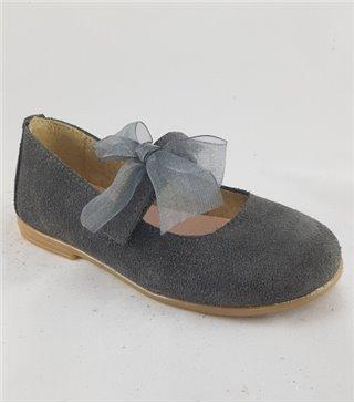 Zapato de piel niña-4484-gris