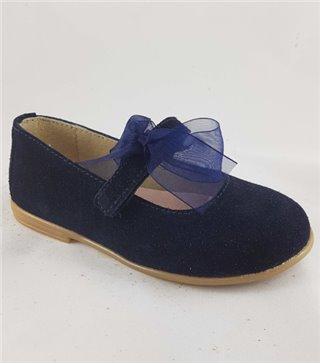 Zapato de piel niña-4484-marino